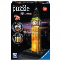 Puzzle Big Ben Londýn Noční Edice 3D 216 dílků