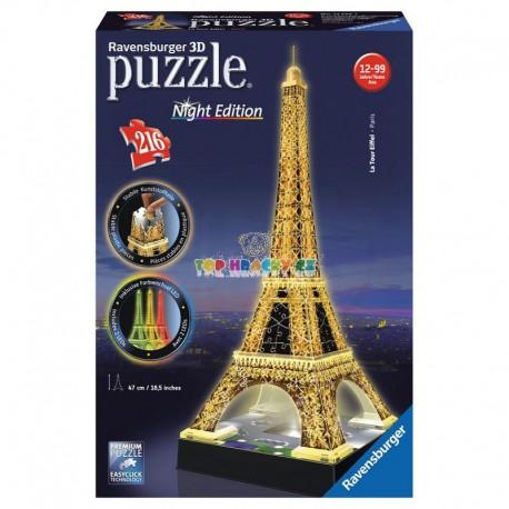 Puzzle Eiffelova věž Noční edice 3D 216d