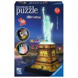 Puzzle Socha Svobody noční edice 3D 108 dílků