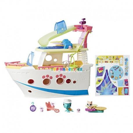 LPS Littlest Pet Shop Výletní loď se 3 zvířátky