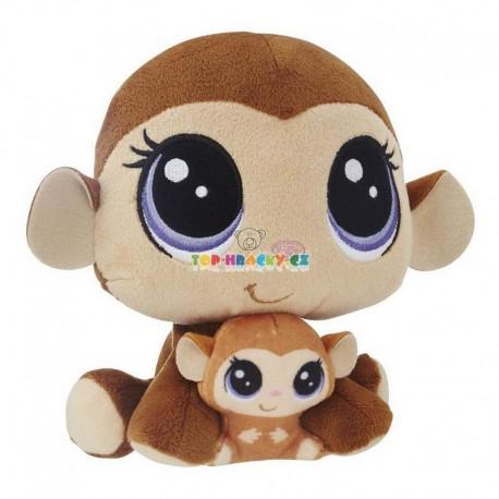 LPS Littlest Pet Shop plyšová opička a mládě