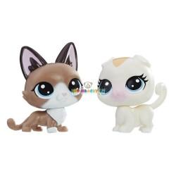 LPS Littlest Pet Shop 2 zvířátka 72 kočka a 73 kočka