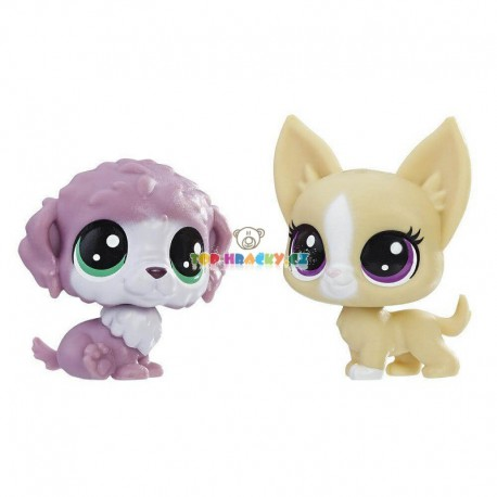 LPS Littlest Pet Shop 2 zvířátka 86 pejsek a 87 čivava