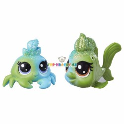 LPS Littlest Pet Shop duhová  7 krab a 8 rybka