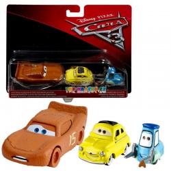 Disney Pixar Cars 3 Zablácený Blesk, Luigi a Quido